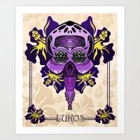 Lukos (squid) Art Print