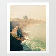 View from Horseshoe Falls, Niagara Falls, Ontario Fine Art Photography Print Art Print