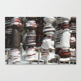 Strawberry Chocmallow kebabs  Canvas Print