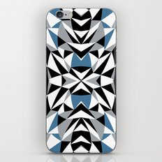 Abstract Kite Black and Blue iPhone & iPod Skin