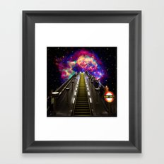 Stairway to Nowhere and Everywhere | London Tube Series Framed Art Print