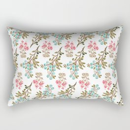 Colorful berries and Flowers Nature Pattern Rectangular Pillow