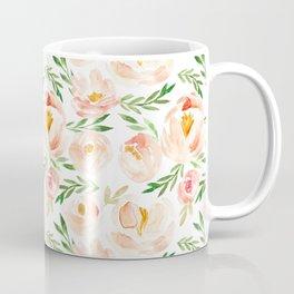 Soft Blush Floral Coffee Mug