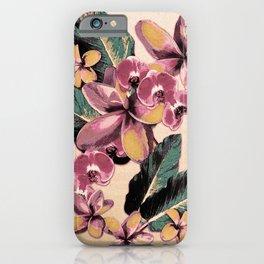 Tropical Vintage Plumerias 2 iPhone Case