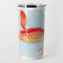 Orange Swimmer Crab Travel Mug