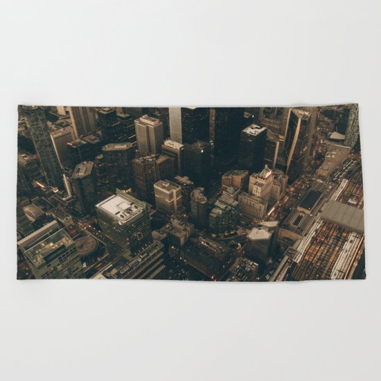 NYC from above - Ariel Image Beach Towel