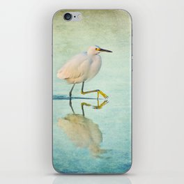 Snowy Egret iPhone Skin