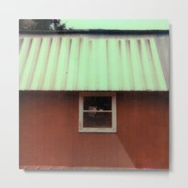 barn - counrty - farm - sx-70 one-step - vintage photography - polaroid print Metal Print