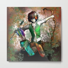 Elf Archer for dnd, magic and fantasy fans Metal Print