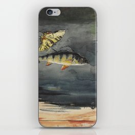 Vintage Winslow Homer Fish & Butterfly Painting (1900) iPhone Skin