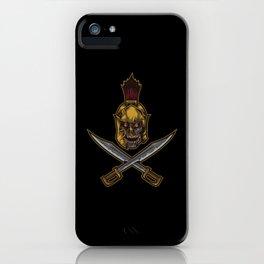Spartan Warrior | Sparta Greek Fighter Skull Sword iPhone Case