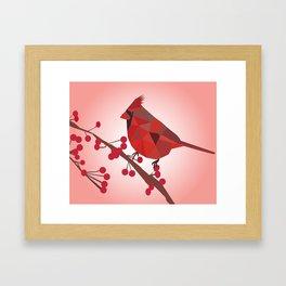 North Cardinal Bird Framed Art Print