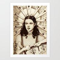 St Dorothy  Art Print