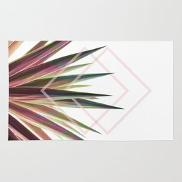 Tropical Desire - Foliage and geometry Rug