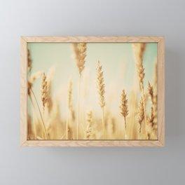 the wheat field ... Framed Mini Art Print