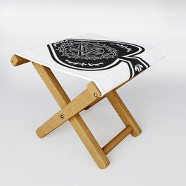Ace of Spades Pentagram Star, Fun Gift Idea Design Folding Stool