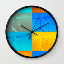 X-ray design for a colorful dragonfly Wall Clock