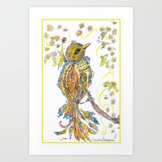 Lace Bird Art Print