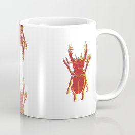 Stag Beetle Tricolore lino cut Coffee Mug