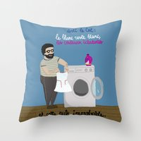 equality Throw Pillows featuring Equality by Désirée Nordbusch