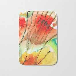 Abstract Red Art - The Promise - Sharon Cummings Bath Mat