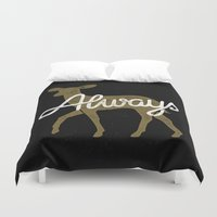 snape Duvet Covers featuring Always by WEAREYAWN