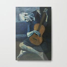 The Old Guitarist - Pablo Picasso Metal Print