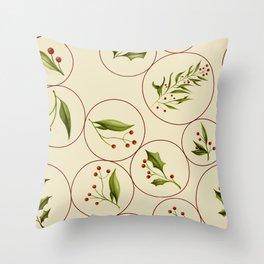 Vintage Baubles #society6 #xmas Throw Pillow