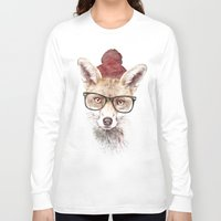 lady gaga Long Sleeve T-shirts featuring It's pretty cold outside by Robert Farkas