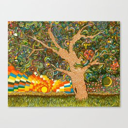 Etz haDaat tov V'ra: Tree of Knowledge Canvas Print