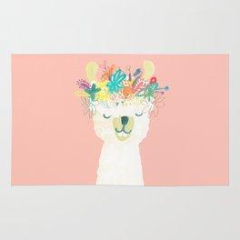 Llama Goddess Rug