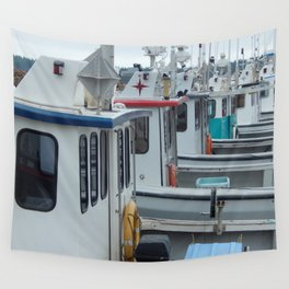 Waiting to go Fishing Wall Tapestry
