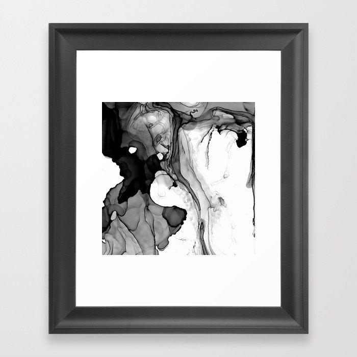 Soft Black Marble Framed Art Print By Lumenbigott Society6