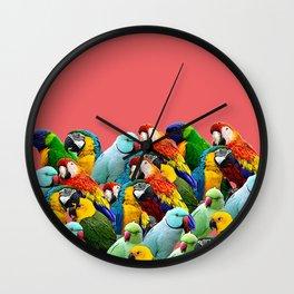 watermelon interior parrots design Wall Clock