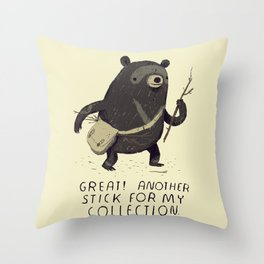 another stick for my collection Throw Pillow