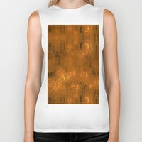 gold foil Biker Tanks featuring Gold Foil 10 by Robin Curtiss