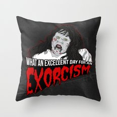 Excellent Exorcism  Throw Pillow