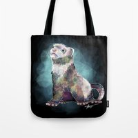 ferret Tote Bags featuring Ferret Time ! by margaw