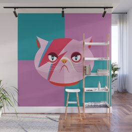 Glam cat Wall Mural