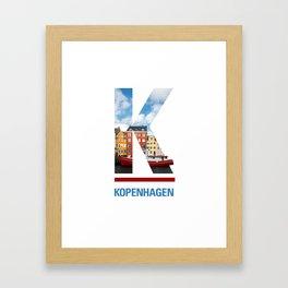 K-openhagen Framed Art Print