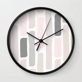 Soft Pastels Composition 1 Wall Clock