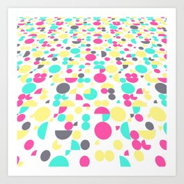 New Game,white colorful. Art Print
