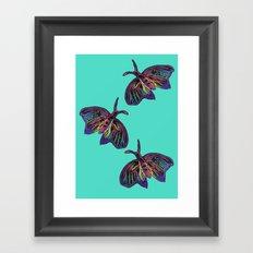 Butterflies gradient  Framed Art Print