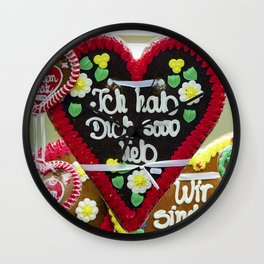 Fairground hearts Wall Clock