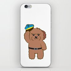 Poodle Police iPhone & iPod Skin