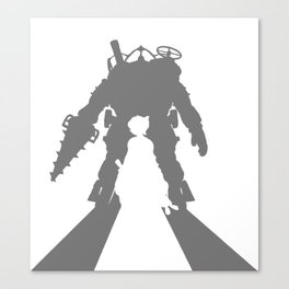 Little Sister and Big Daddy Silhouette Canvas Print