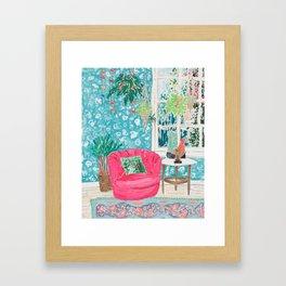 Pink Tub Chair Framed Art Print