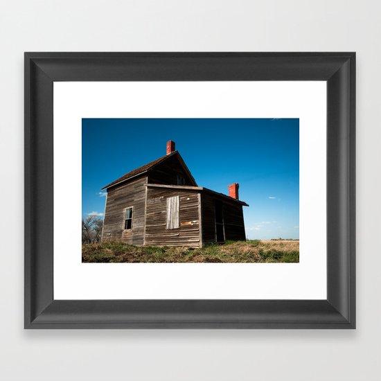Abandon Farm House Framed Art Print