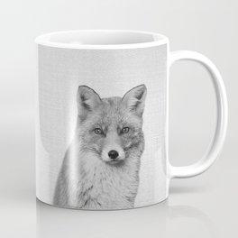 Fox - Black & White Coffee Mug