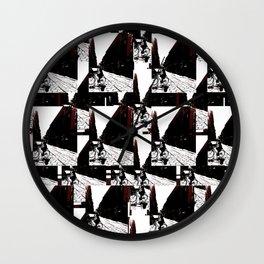 Maroon Bike Wall Clock